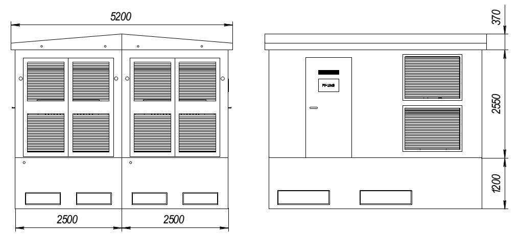 бктп трансформаторная подстанция - размеры