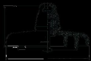 Стеклянный линейный подвесной изолятор ПСВ-120Б