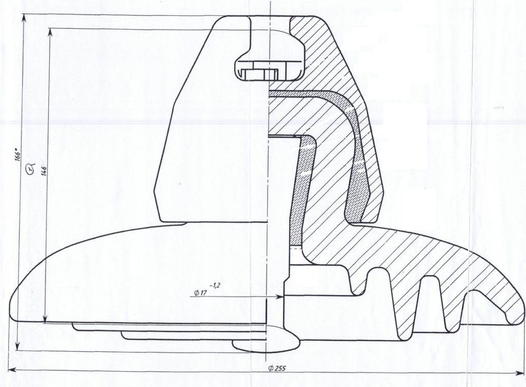 Линейные подвесные фарфоровые изоляторы  ПФ-70А, ПФ-70Д , ПФ70В купить