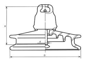 стеклянный изолятор ПСД-70Е